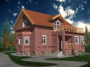 Дачный дом, кирпич
